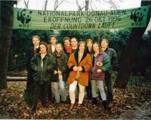 WWF_NP Donauauen_Countdown läuft_FeliceHannerlEdithUlliGüntherStefanLötschMarkusNBirgitKathi